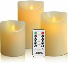 Set of 3 Flameless Candles Battery Operated Candles with Remote and Timer