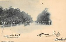 SPAIN - Madrid - Paseo de Recoletos 1902