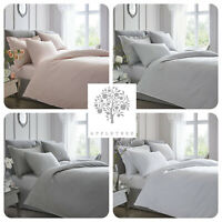 Appletree - 100% Cotton 200TC Percale Plain-Dye Duvet Set with Contrast Piping