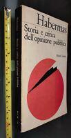 GG LIBRO: HABERMAS - STORIA E CRITICA DELL'OPINIONE PUBBLICA LATERZA - 1971