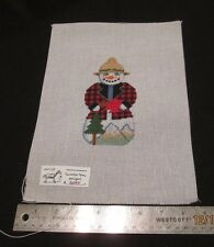 Hand painted Needlepoint Canvas Lumberjack Snowman  Painted Pony Designs 509 F