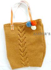Felix Stricktasche Damen Tasche Handtasche Schultertasche Shopper Orange Gelb