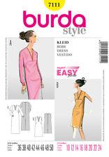 Burda Sewing Pattern Kaftan Dress Maxi 7111 Ladies 10-24 Super Easy 60s Vintage