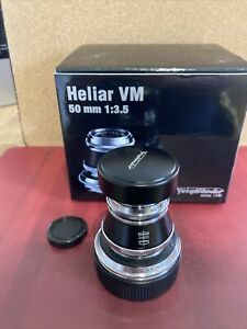VOIGTLANDER HELIAR 50mm F3.5 VM LENS IN LEICA M MOUNT