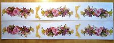 Mrs. Grossman Stickers 1998 Photoessence Spring Garland DL 6 Flowers & 4 Bows