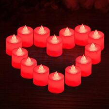 6 Flameless Flickering LED Lights Candles Battery Tealight Wedding Decor Red YG