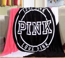 Victoria'S Secret Pink Boyfriend Blanket Authentic With Pink Tag Sherpa Velvet
