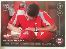 2016 Topps Now Mickey Moniak /2763 #165 #1 Draft Pick Signs Contract
