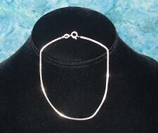 """9"""" Sterling Silver Box Chain Bracelet NEW 2g Spring clasp 925 Italy Jewelry"""