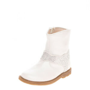 ROSSANO Baby Leather Ankle Boots Size 20 UK 4 US 5 Rhinestone Made in Italy