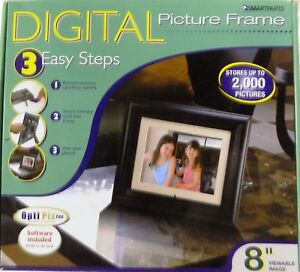 Smartparts SP800B 8-Inch Digital Picture Wood Frame