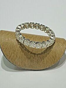Alliance Tour-Complet bague or blanc, 20 Diamants 2 carats
