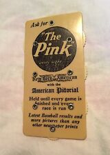 Babe Ruth Baseball Scorer Antique - 'The Pink' - 'North American'