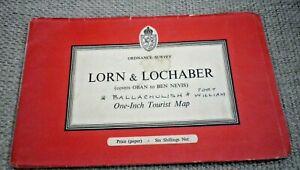 Vintage Ordnance Survey Map Lorn & Lochaber 1959 One Inch