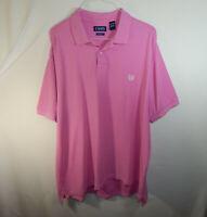 Ralph Lauren Chaps Short Sleeve Mens Polo Golf Dress Shirt Pink Size 2XL XXL