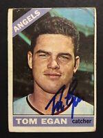Tom Egan Angels Signed 1966 Topps Baseball Card #263 Auto Autograph