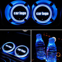 1stk Auto LED Glühend Licht Becherhalter Cup Getränkehalter Coaster Pad Mat USB