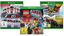 XboxOne Spiele Bundle LEGO Movie Videogame F1 2016 Pure Farming