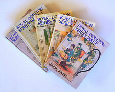 A COMPLETE SET OF ROYAL DOULTON SERIES WARE BOOKS - VOLUMES 1 -5