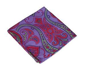 Lord R Colton Masterworks Pocket Square - Upsala Passion Silk - $75 Retail New