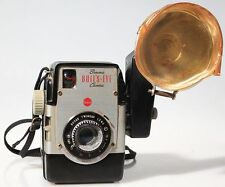 KODAK ART-DECO BACKALITE W/ FLASH   PLASTIC SHIELD W/ ORIGINAL STRAP