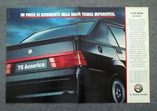 G757 - Advertising Pubblicità - 1989 - ALFA ROMEO 75 AMERICA