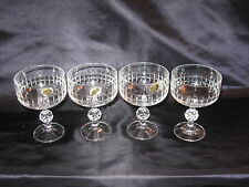 Crystal Wine Glasses New Set of 4 Bohemian Sparkling Crystal Gorgeous