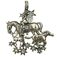 NEW KIRKS FOLLY STARDUST ANGEL HORSE MAGNETIC ENHANCER  ANTIQUE SILVERTONE