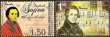 Bosnia 2010,Chopin,Robert Schumann,Composers,set,MNH