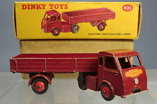"""DINKY TOYS MODEL No.421 ELECTRIC ARTICULATED LORRY  """"HINDLE SMARTS"""" VN MIB"""