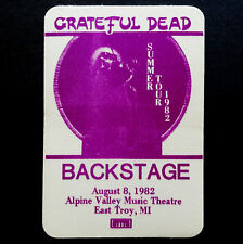 Grateful Dead Backstage Pass Blues For Allah Garris Art Alpine Valley 8/8/1982