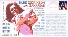 COVERSCAPE computer designed Babe Didrikson event cover