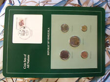Coin Sets of All Nations Venezuela  w/ card all 1989 UNC Morrocoy Tortoise