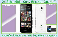 2 x Antireflex Display Schutz Folie matt Sony Xperia T LT30P Screen Protector HQ