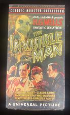The Invisible Man Vhs Cassette Tape Brand New Sealed Rare Classic Monster Horror