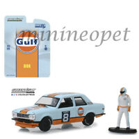 GREENLIGHT 51195 D BISHOP DATSUN 510 WIDE BODY #8 1/64 GULF RACING with FIGURE