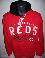 CINCINNATI REDS Pull Over Hoody with Sewn & Screened Logos- RED M L
