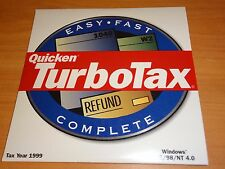 LOOK *Retail* 1999 TURBOTAX BASIC COMPLETE FEDERAL CD TURBO TAX in CD SLEEVE