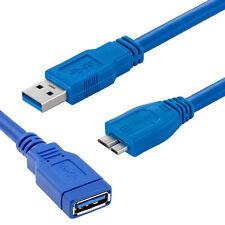Cable Alargador Datos Carga Micro USB 3.0 Macho-Macho y Macho-Hembra 1m 2m 3m