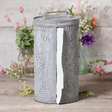 Punched Tin Paper Towel Dispenser in Weathered Zinc finish -SALE