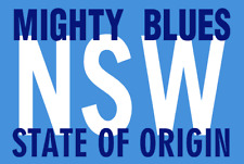 286a7eba209 New South Wales NSW Blues State of Origin NRL Mighty Blues Flag (NO STICK