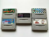 Lot5 Nintendo SuperFamicom Japan Import Used Game SET PuyoPuyo F-ZERO SFC japan