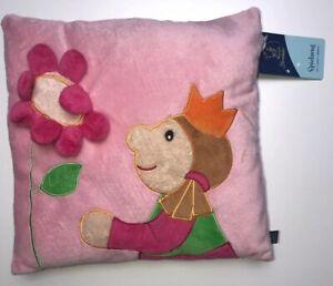 Sterntaler Prinzessin Rosa Blume Krone Pink Grün Kuschelkissen Plüsch Nicky Kiss