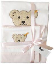 STEIFF® Baby Bettwäsche Garnitur Rosa Teddy im Geschenkbox 100 x 135 cm  NEU!