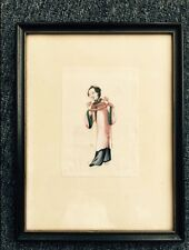 中国通草画  China Ricepaperplant pith painting 框边尺寸:20厘米X26厘米 Frame Size: 20 cm X26 c