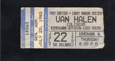 1982 Van Halen concert ticket stub Birmingham AL Diver Down Hide Your Sheep Tour