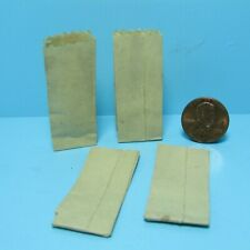 Dollhouse Miniature Small Paper Bag Set of 4 Great for Store or Market  IM65215