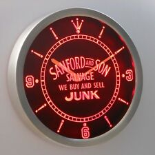 Sanford and Son buy sell Junk 3D Neon Sign LED Wall Clock NC0235-R