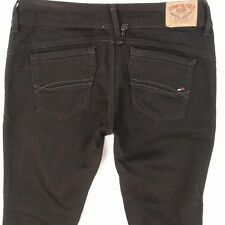 Ladies Womens Tommy Hilfiger VICTORIA Slim Straight Black Jeans W30 L32 Size 10