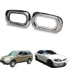 Fits 2000-2005 Honda Civic 2002-2006 CR-V Chrome Side Indicator Lamp Light Cover